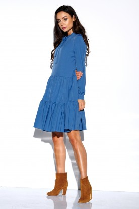Dress with a bow in colours L319 jeans