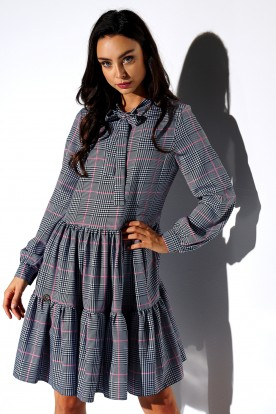 Dress with a bow in patterns LG515 print 4