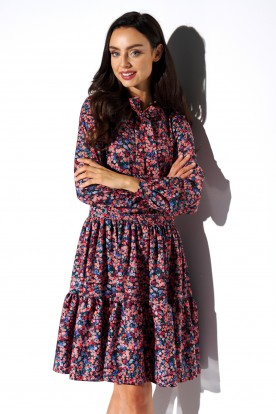 Dress with a bow in patterns LG515 print 10