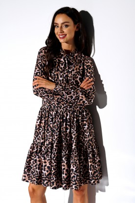 Dress with a bow in patterns LG515 print 12