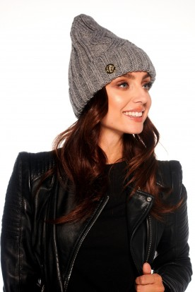 Classic winter ladies cap LC112 light grey