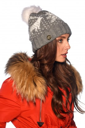 Snowflake cap LC120 light grey