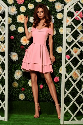 Bardot dress L258 powder pink