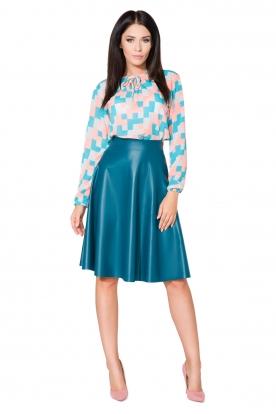 Mėlynas eko odos sijonas