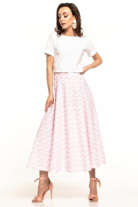 Baltas, margas sijonas