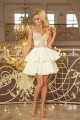 200-1 CHARLOTTE - Exclusive dress with lace neckline - gold