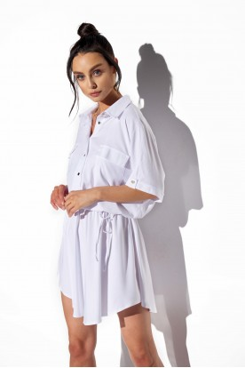 Shirt dress with buttons L338 white