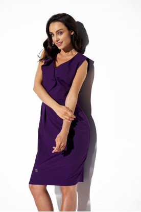 Elegant dress with frill L337 violet