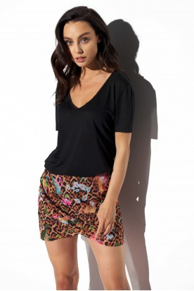 Short silk skirt LG550 print 13