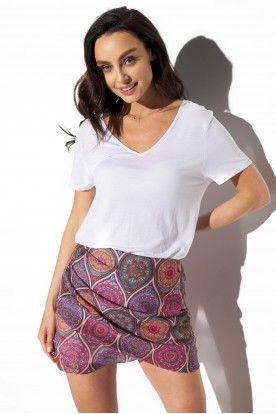 Short silk skirt LG550 print 20