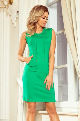 MM 009-7 Dress with hood - green