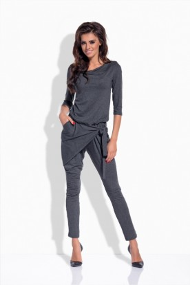 L156 Elegant, original overall with the 3/4 lenght sleeves dark grey