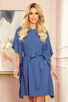 287-9 SOFIA Butterfly dress - pattern - blue linen