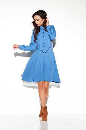 Dress tied on the neck In colours L310 jeans