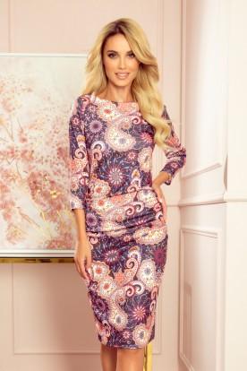 59-10 Sweater dress - oriental colorful pattern