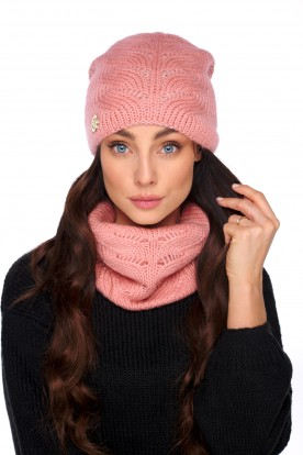 Basic set with wool and mohair LC134 salmon