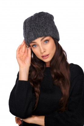 Basic hat with wool and mohair LC135 dark grey