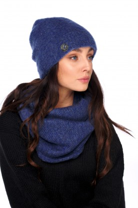 Basic set: hat with pearl and scarf LC141 jeans
