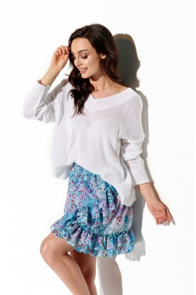Short skirt with silk and frills LG520 print 14