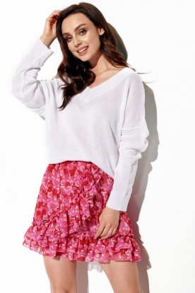 Short skirt with silk and frills LG520 print 17