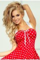 Pin Up dress - red with white dots 30-8