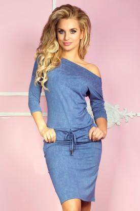 Sporty dress - viscose - Blue jeans 13-20