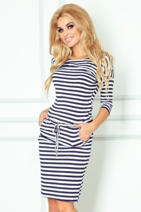 Sporty dress - Blue stripes 13-34