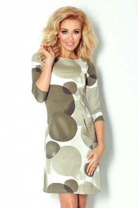 Dress with zippers - Green 38-11
