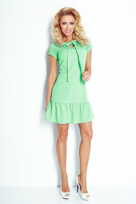 Dress with frill and bow - Green 101-2