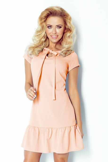 Dress with frill and bow - Pink 101-3