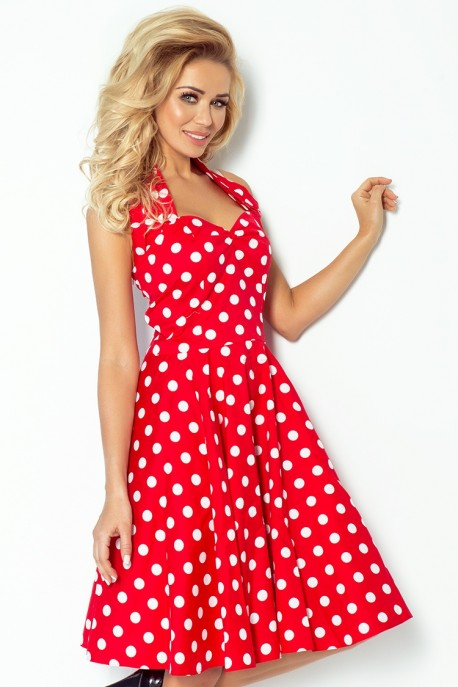 Pin Up dress - red with white dots 30-12