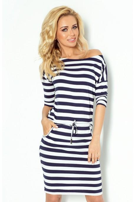 Sporty dress - Blue stripes 2x2cm 13-46