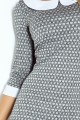 Dress with collar - gray maze 111-2