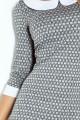 Dress with collar - gray maze 111-2