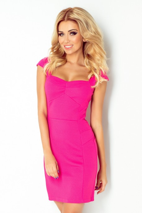 Dress with sleeves - Pink 118-3