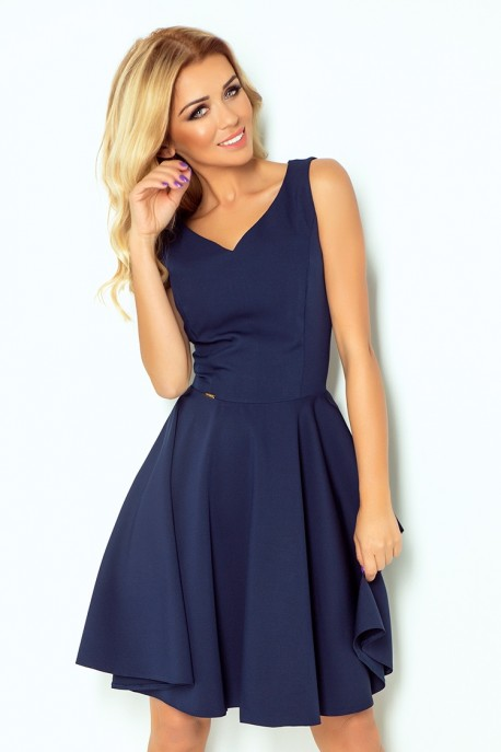 Dress circle - heart-shaped neckline - Navy Blue 114-7