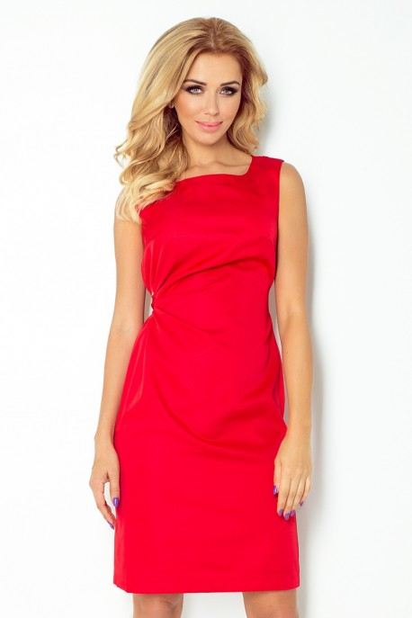 MEMORY - dress with binding - red 126-5