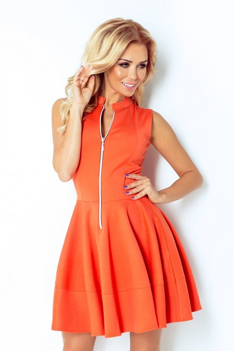 dress with zipper - orange 123-5