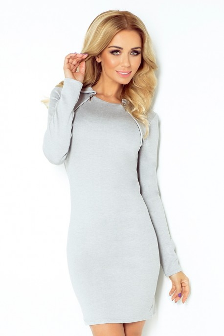 130-1 Dress with two zippers - gray