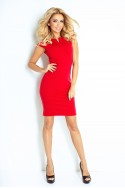 132-2 dress with cut-out - red