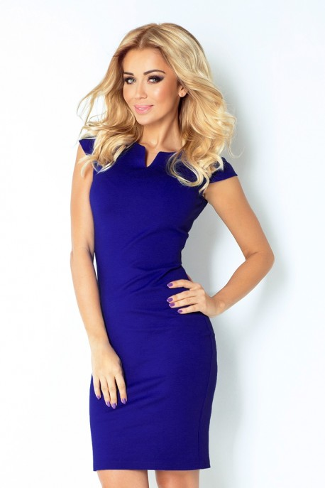 132-1 dress with cut-out - Blue