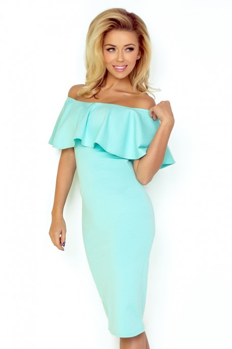 Dress with frill - MINT 138-3