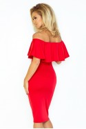 Dress with frill - red 138-2