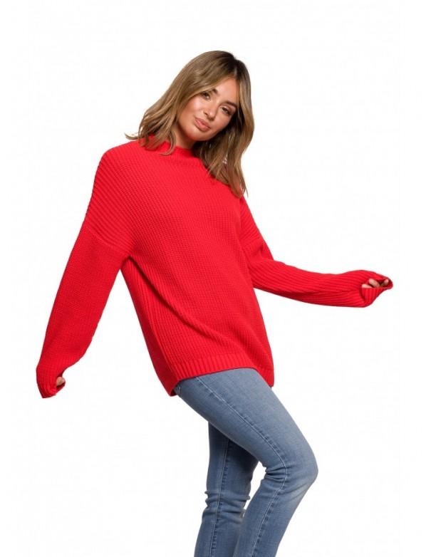 BK078 Knit turtleneck - red