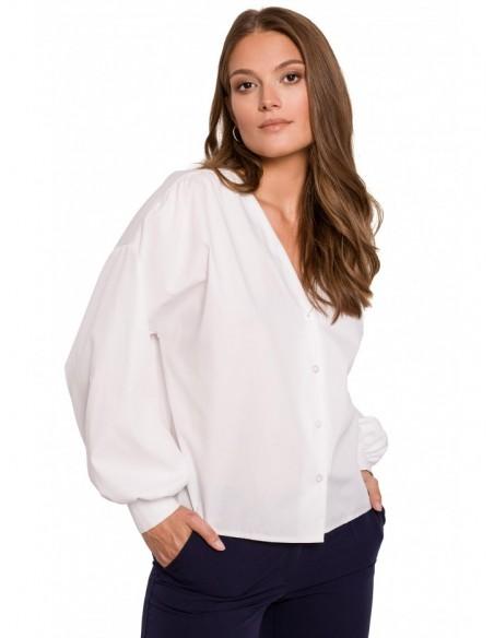 K115 Bishop sleeve shirt - white