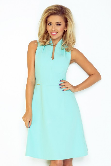 Dress with collar and neckline - mint 133-5