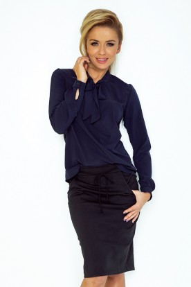 Blouse with bond - navy blue 140-4