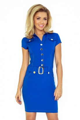 Dress with buttons - blue 142-3