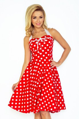 Pin Up dress - red with white dots 30-21