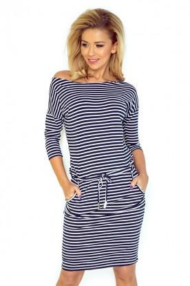 Sporty dress - Blue stripes 13-51